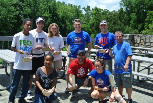 Soccerfest and community volunteers who painted pavilion tables and interior